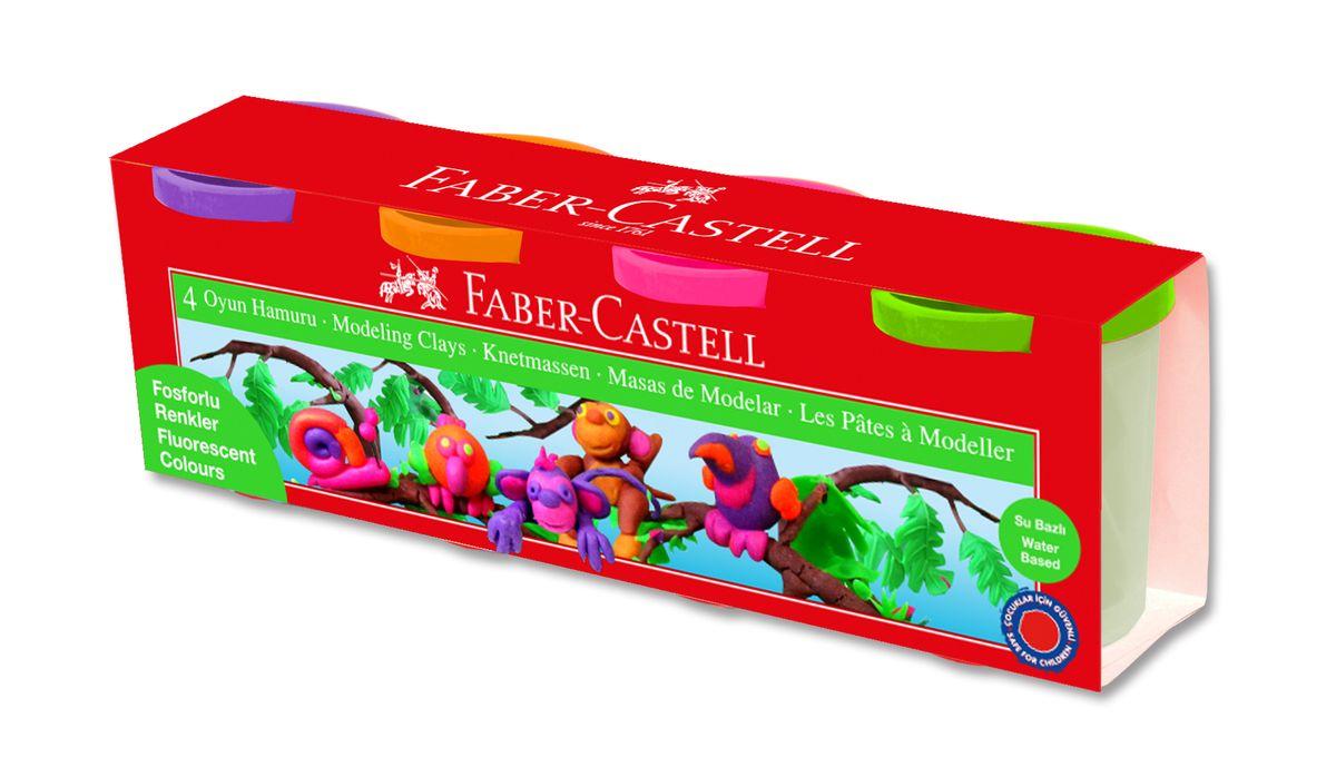 Faber-Castell Пластилин на водной основе в карт коробке 4 шт 520 гр70/30U_бледно-розовый• пригоден для развития детского творчества• на водной основе• мягкая и эластичная фактура• не прилипает и не крошится• абсолютно безопасен• общий вес набора - 520 гр