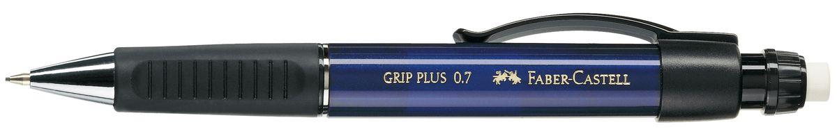 Faber-Castell Карандаш механический Grip Plus цвет корпуса синий 130732119010Механический карандаш Faber-Castell Grip Plus - незаменимый атрибут современного делового человека дома и в офисе.Корпус карандаша круглой формы с металлическим наконечником выполнен из высококачественного пластика. Дополнен корпус удобным пластиковым держателем, трехгранной резиновой областью захвата и толстым выдвижным ластиком. Карандаш оснащен инновационной системой, предотвращающей поломку грифеля.Убирающийся внутрь кончик обеспечивает безопасное ношение карандаша в кармане.Порадуйте друзей и знакомых, оказав им столь стильный знак внимания.