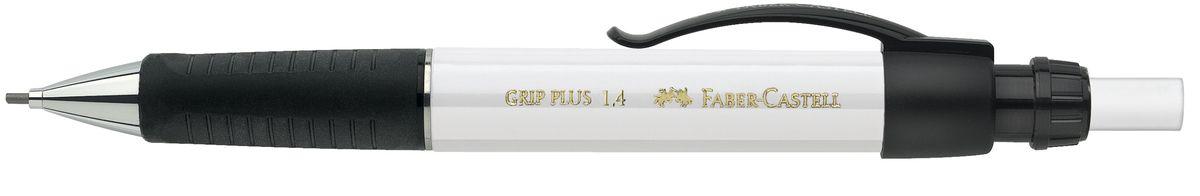 Faber-Castell Карандаш механический Grip Plus цвет корпуса белый 131401C13S041944Механический карандаш Faber-Castell Grip Plus - незаменимый атрибут современного делового человека дома и в офисе.Корпус карандаша круглой формы с металлическим наконечником выполнен из высококачественного пластика. Дополнен корпус удобным пластиковым держателем, трехгранной резиновой областью захвата и толстым выдвижным ластиком. Карандаш оснащен инновационной системой, предотвращающей поломку грифеля.Убирающийся внутрь кончик обеспечивает безопасное ношение карандаша в кармане.Порадуйте друзей и знакомых, оказав им столь стильный знак внимания.
