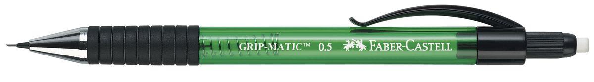 Faber-Castell Карандаш механический Grip-Matic цвет корпуса зеленый 13756372523WDМеханический карандаш Faber-Castell Grip-Matic - незаменимый атрибут современного делового человека дома и в офисе.Корпус карандаша круглой формы выполнен из высококачественного пластика и дополнен резиновой областью захвата и длинным выдвижным ластиком. Карандаш оснащен инновационной системой, позволяющей грифелю выдвигаться в зависимости от письма в оптимальном объеме.Мягкое комфортное письмо и тонкие линии при написании принесут вам максимум удовольствия. Порадуйте друзей и знакомых, оказав им столь стильный знак внимания.