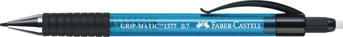 Faber-Castell Карандаш механический Grip-Matic цвет корпуса синий 137751FS-00102Механический карандаш Faber-Castell Grip-Matic - незаменимый атрибут современного делового человека дома и в офисе.Корпус карандаша круглой формы выполнен из высококачественного пластика и дополнен резиновой областью захвата и длинным выдвижным ластиком. Карандаш оснащен инновационной системой, позволяющей грифелю выдвигаться в зависимости от письма в оптимальном объеме.Мягкое комфортное письмо и тонкие линии при написании принесут вам максимум удовольствия. Порадуйте друзей и знакомых, оказав им столь стильный знак внимания.