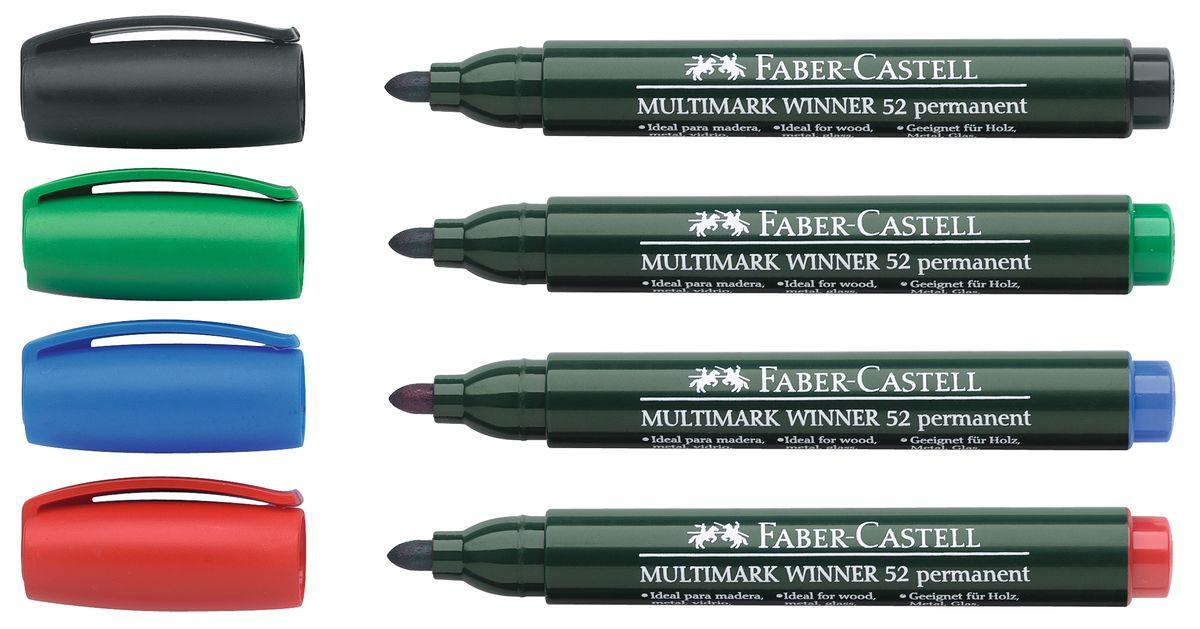 Faber-Castell Маркер перманентный Winner 52 (4 шт)263292Прекрасные маркеры Faber-Castell Winner 52 будут правильным решением для вашей коллекции. Выбранная модель станет приятной покупкой или подарком для друга.Данные маркеры имеют эргономичную трехгранную область захвата.Изделия состоят из сырья высокого качества приятного оттенка.Идеально подойдут для всех видом бумаги, быстро высыхают, устойчивы к воздействию воды и стиранию.Дизайн маркеров выверен учитывая все подробности.