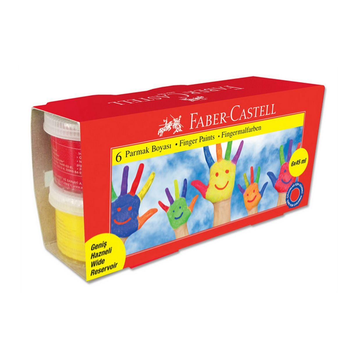 Faber-Castell Краски пальчиковые 6 цветовPP-219Пальчиковые краски Faber-Castell выполнены на основе натуральных, экологически чистых компонентов и нетоксичны. В процессе творчества у малыша развивается мелкая моторика и образное мышление. Легко смываются со стекол и рук, их можно без труда отстирать с одежды. Краски прекрасно подойдут для использования на бумаге и картоне пальцем, щеткой или губкой.
