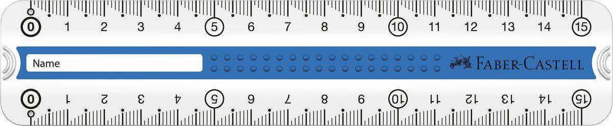 Faber-Castell Линейка Grip 15 см цвет синий171016Линейка Faber-Castell Grip выполнена из прозрачного прочного пластика. Линейка имеет две сантиметровых шкалы, благодаря чему подойдет как для правшей, так и для левшей. 3D Grip-зона и скошенные края обеспечат удобный захват линейки. Практичная и удобная линейка - незаменимый инструмент на любом рабочем столе.
