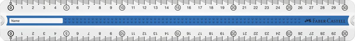 Faber-Castell Линейка Grip 30 см цвет синий72523WDЛинейка Faber-Castell Grip выполнена из прозрачного пластика. Линейка имеет две сантиметровые шкалы, благодаря чему подойдет как для правшей, так и для левшей. 3D Grip-зона и скошенные края обеспечивают удобный захват линейки.Практичная и удобная линейка - незаменимый инструмент на любом рабочем столе.