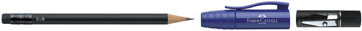 Faber-Castell Карандаш чернографитовый Perfect Pencil II цвет корпуса синий182951Карандаш чернографитовый Faber-Castell Perfect Pencil II - незаменимый атрибут современного делового человека дома и в офисе.Корпус карандаша имеет колпачок с прочным клипом, который защищает кончик карандаша и одновременно удлиняет его встроенной точилкой. Карандаш оснащен инновационной системой, предотвращающей поломку грифеля.Порадуйте друзей и знакомых, оказав им столь стильный знак внимания.