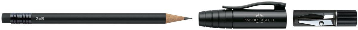 Faber-Castell Карандаш чернографитовый Perfect Pencil II цвет корпуса черный121219-00Карандаш чернографитовый Faber-Castell Perfect Pencil II - незаменимый атрибут современного делового человека дома и в офисе.Корпус карандаша имеет колпачок с прочным клипом, который защищает кончик карандаша и одновременно удлиняет его встроенной точилкой. Карандаш оснащен инновационной системой, предотвращающей поломку грифеля.Порадуйте друзей и знакомых, оказав им столь стильный знак внимания.