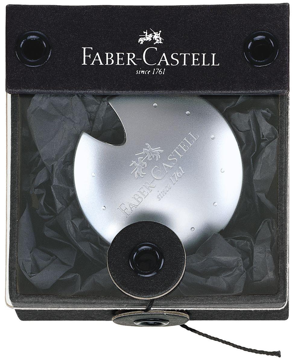 Faber-Castell Точилка UfoС06Точилка Faber-Castell Ufo - высококачественная точилка из хромированного полированного металла. Элегантный дизайн делает точилку прекрасным подарком.Безукоризненное сменное лезвие для стандартных карандашей.