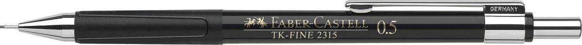 Faber-Castell Карандаш механический TK-Fine цвет корпуса черный 231599C13S041944Механический карандаш Faber-Castell TK-Fine идеален для письма и черчения.Корпус карандаша круглой формы выполнен из высококачественного пластика. Убирающийся внутрь кончик обеспечивает безопасное ношение карандаша в кармане.Отличительная особенность - качественный ластик и 3 запасных грифеля HB.Мягкое комфортное письмо и тонкие линии при написании принесут вам максимум удовольствия. Порадуйте друзей и знакомых, оказав им столь стильный знак внимания.