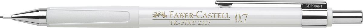 Faber-Castell Карандаш механический TK-Fine цвет корпуса белый 2317012010440Механический карандаш Faber-Castell TK-Fine идеален для письма и черчения.Корпус карандаша круглой формы выполнен из высококачественного пластика. Убирающийся внутрь кончик обеспечивает безопасное ношение карандаша в кармане.Отличительная особенность - качественный ластик и 3 запасных грифеля HB.Мягкое комфортное письмо и тонкие линии при написании принесут вам максимум удовольствия. Порадуйте друзей и знакомых, оказав им столь стильный знак внимания.