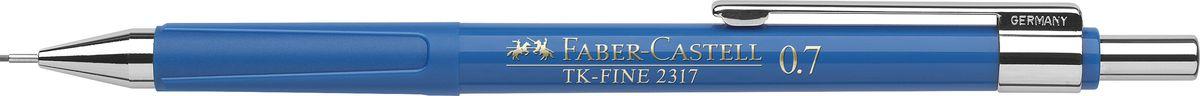 Faber-Castell Карандаш механический TK-Fine цвет корпуса синий 23175172523WDМеханический карандаш Faber-Castell TK-Fine идеален для письма и черчения.Корпус карандаша круглой формы выполнен из высококачественного пластика. Убирающийся внутрь кончик обеспечивает безопасное ношение карандаша в кармане.Отличительная особенность - качественный ластик и 3 запасных грифеля HB.Мягкое комфортное письмо и тонкие линии при написании принесут вам максимум удовольствия. Порадуйте друзей и знакомых, оказав им столь стильный знак внимания.