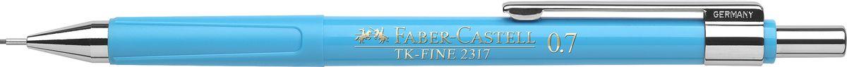 Faber-Castell Карандаш механический TK-Fine цвет корпуса голубой 23175272523WDМеханический карандаш Faber-Castell TK-Fine идеален для письма и черчения.Корпус карандаша круглой формы выполнен из высококачественного пластика. Убирающийся внутрь кончик обеспечивает безопасное ношение карандаша в кармане.Отличительная особенность - качественный ластик и 3 запасных грифеля HB.Мягкое комфортное письмо и тонкие линии при написании принесут вам максимум удовольствия. Порадуйте друзей и знакомых, оказав им столь стильный знак внимания.