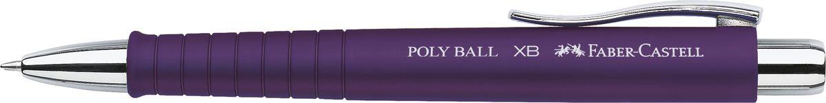 Faber-Castell Ручка шариковая Poly Ball XB синяя цвет корпуса фиолетовый72523WDШариковая ручка Faber-Castell с эргономичной трехгранной областью захвата станет незаменимым атрибутом учебы или работы. Корпус ручки выполнен из пластика; кончик, выдвижной наконечник и кнопка - из металла. Высококачественные чернила позволяют добиться идеальной плавности письма. Ручка оснащена качественным нажимным механизмом и упругим клипом для удобной фиксации на бумаге или одежде.