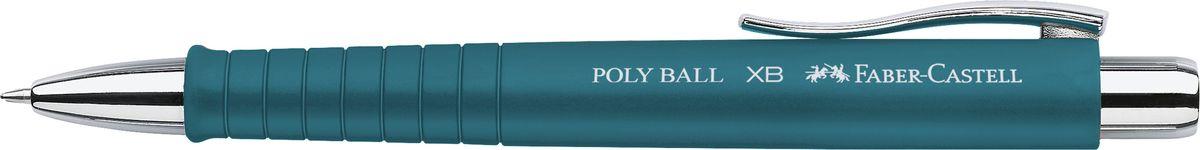 Faber-Castell Ручка шариковая Poly Ball XB синяя цвет корпуса бирюзовый72523WDШариковая ручка Faber-Castell с эргономичной трехгранной областью захвата станет незаменимым атрибутом учебы или работы. Корпус ручки выполнен из пластика; кончик, выдвижной наконечник и кнопка - из металла. Высококачественные чернила позволяют добиться идеальной плавности письма. Ручка оснащена качественным нажимным механизмом и упругим клипом для удобной фиксации на бумаге или одежде.