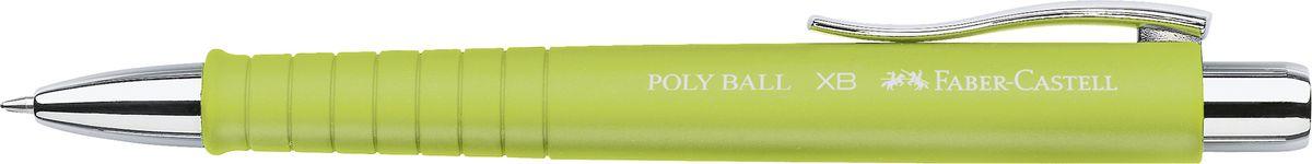 Faber-Castell Ручка шариковая Poly Ball синяя цвет корпуса лайм263432Шариковая ручка Faber-Castell Poly Ball с эргономичной трехгранной областью захвата станет незаменимым атрибутом учебы или работы. Корпус ручки выполнен из пластика; кончик, выдвижной наконечник и кнопка - из металла. Высококачественные чернила позволяют добиться идеальной плавности письма. Ручка оснащена качественным нажимным механизмом и упругим клипом для удобной фиксации на бумаге или одежде.