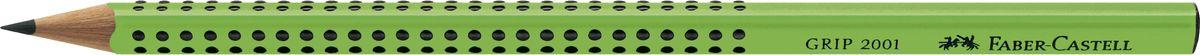 Faber-Castell Карандаш чернографитный Grip 2001 твердость B цвет зеленый517068Faber-Castell Grip 2001 - чернографитный карандаш наивысшего качества эргономичной трехгранной формы. Запатентованная антискользящая зона захвата Grip с малыми массажными шашечками. Качественная мягкая древесина для хорошего затачивания. Специальная SV технология вклеивания грифеля предотвращает поломку при падении на пол. Корпус покрыт лаком на водной основе в целях защиты окружающей среды.