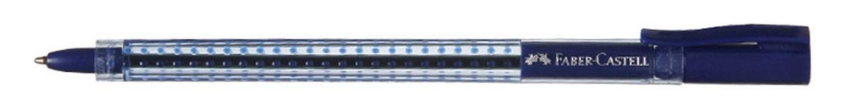 Faber-Castell Ручка шариковая Grip 2020 цвет синий2010440Шариковая ручка Faber-Castell Grip 2020 эргономичной трехгранной формы станет незаменимым атрибутом учебы или работы. Прозрачный корпус ручки выполнен из пластика и соответствует цвету чернил. Запатентованная антискользящая зона захвата дополнена малыми массажными шашечками.Высококачественные чернила позволяют добиться идеальной плавности письма. Ручка оснащена упругим клипом для удобной фиксации на бумаге или одежде.