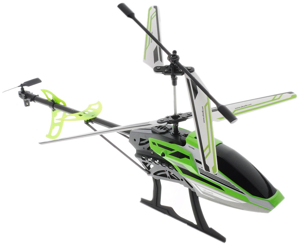 silverlit silverlit вертолет со стрелами helli blaster на радиоуправлении 3х канальный Silverlit Вертолет на радиоуправлении Sky Eagle III цвет черный салатовый