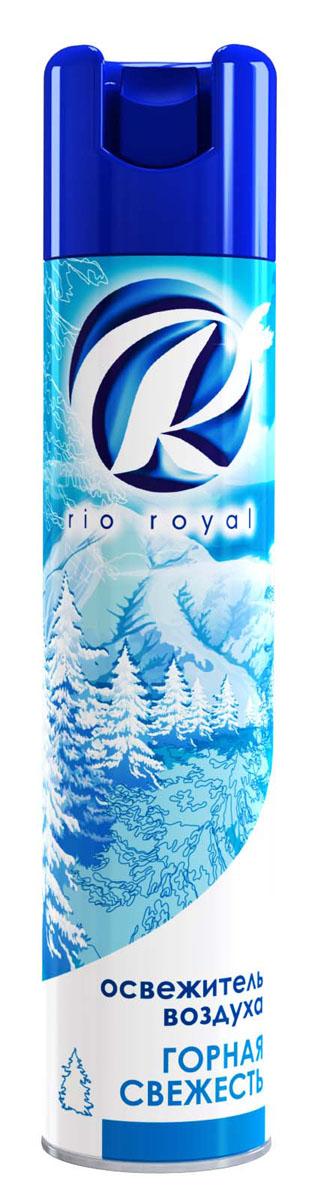 Освежитель воздуха Rio Royal Горная свежесть, 300 мл106-026Освежитель воздуха Rio Royal Горная свежесть предназначен для устранения неприятных запахов в различных помещениях. Он надолго наполняет пространство приятным ароматом.Аэрозоль не содержит озоноразрушающих веществ. Товар сертифицирован.