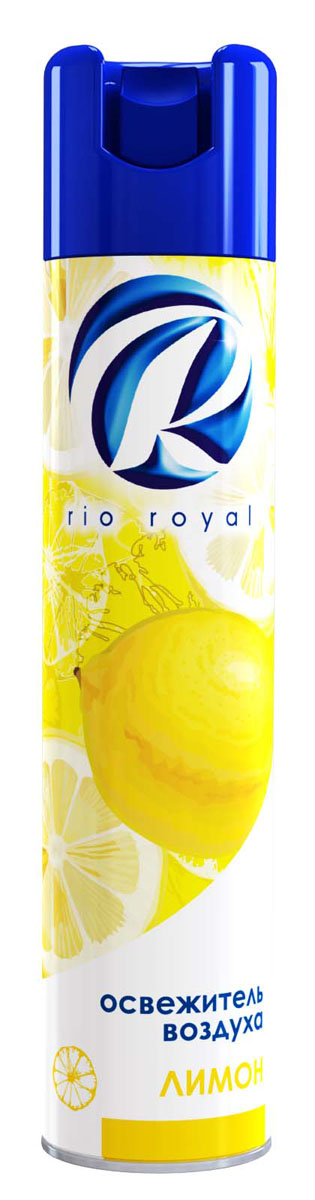 Освежитель воздуха Rio Royal Лимон, 300 мл391602Освежитель воздуха Rio Royal Лимон предназначен для устранения неприятных запахов в различных помещениях. Он надолго наполняет пространство приятным ароматом.Аэрозоль не содержит озоноразрушающих веществ. Товар сертифицирован.