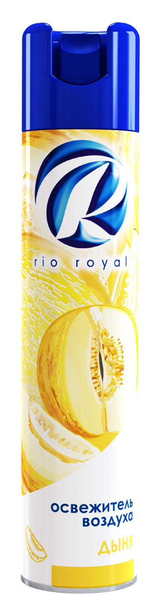 Освежитель воздуха Rio Royal Дыня, 300 мл68/5/1Освежитель воздуха «Рио ройял» предназначен для устранения неприятных запахов в различных помещениях. Обладает длительным действием, надолго наполняя ваш дом благоухающими ароматами.