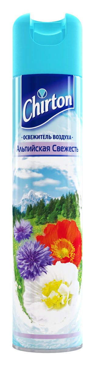 Освежитель воздуха Chirton Альпийская свежесть, 300 мл935071Чиртон представляет новейшую серию освежителей для вашего дома с его незабываемыми ароматами на любой вкус. Высокое качество позволит быстро избавиться от неприятных запахов в любом уголке вашего дома. Легко устраняет неприятные запахи, надолго наполняя дом неповторимыми нежными ароматами.