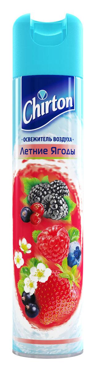 Освежитель воздуха Chirton Летняя ягода, 300 мл106-026Освежитель воздуха Chirton позволит быстро избавиться от неприятных запахов в любом уголке вашего дома. Легко устраняет неприятные запахи, надолго наполняя дом неповторимым нежным ароматом. Товар сертифицирован.