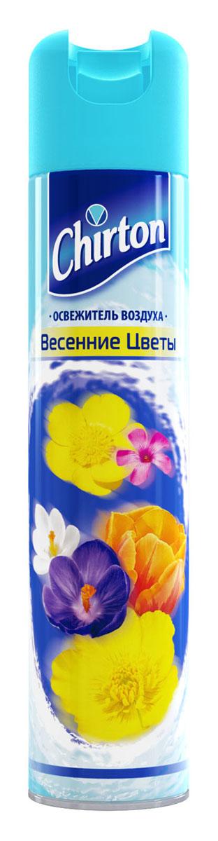 Освежитель воздуха Chirton Весенние цветы, 300 мл106-026Освежитель воздуха Chirton позволит быстро избавиться от неприятных запахов в любом уголке вашего дома. Легко устраняет неприятные запахи, надолго наполняя дом неповторимым нежным ароматом. Товар сертифицирован.