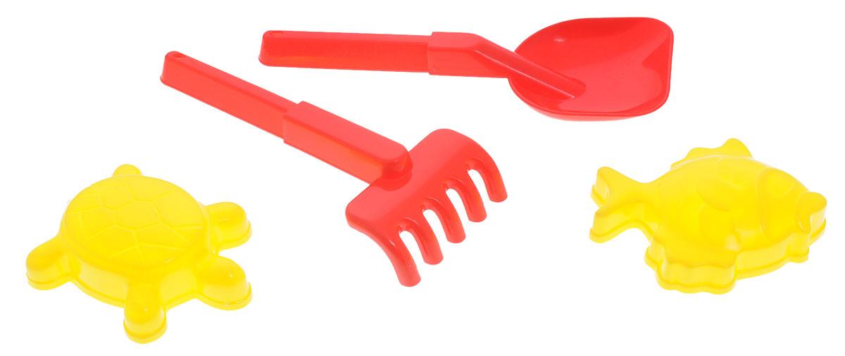 """Набор для песочницы Zebratoys """"Морской"""", изготовленный из прочного и безопасного пластика, доставит много радости вашему ребенку. Набор включает в себя лопатку, грабли, две формочки в виде рыбки и черепахи. С помощью набора малыш сможет устроить грандиозную стройку в песочнице, лепить куличики. С набором для песочницы Zebratoys """"Морской"""" ваш малыш будет увлеченно занят игрой! Уважаемые клиенты! Обращаем ваше внимание на ассортимент в цвете товара. Поставка возможна в одном из вариантов нижеприведенных цветов, в зависимости от наличия на складе."""