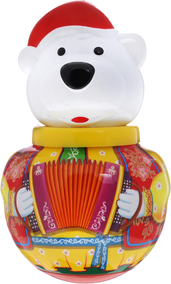 Stellar Неваляшка Белый медведь Борис с гармошкой цвет желтый stellar неваляшка белый медведь борис с балалайкой