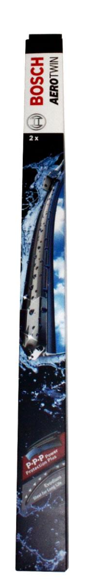 Щетка стеклоочистителя Bosch A452S, бескаркасная, со спойлером, длина 60/45 см, 2 шт2615S545JBКомплект Bosch A452S состоит из двух бескаркасных щеток разного размера. Щетки выполнены по современной технологии из высококачественных материалов и предназначены для установки на переднее стекло автомобиля. Отличаются высоким качеством исполнения и оптимально подходят для замены оригинальных щеток, установленных на конвейере. Обеспечивают качественную очистку стекла в любую погоду. Быстрый монтаж, благодаря предварительно установленному оригинальному адаптеру. Комплектация: 2 шт. AEROTWIN - серия бескаркасных щеток компании Bosch. Щетки имеют встроенный аэродинамический спойлер, что делает их эффективными на высоких скоростях, и изготавливаются из многокомпонентной резины с применением натурального каучука.