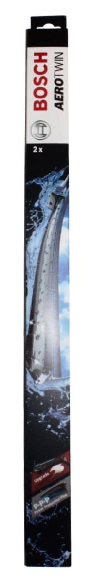 Комплект щеток стеклоочистителя Bosch Aerotwin AR291S 600мм/450мм, бескаркасные, 2 штSS 4041Основное применение: Chevrolet Cruze 2009- ,крепление типа крючок Бескаркасные стеклоочистители с оригинальным креплением. Даже на высоких скоростях можно положиться на Aerotwin: их аэродинамическая конструкция гарантирует лучший обзор – даже в самых притязательных погодных условиях. В оригинальную программу входит Aerotwin с предварительно установленным, характерным для автомобиля оригинальным адаптером – он прост и быстро устанавливается. Высочайшее качество очистки: Прекрасный результат очистки в любой точке стекла благодаря высокотехнологичной пружинной направляющей и аэродинамически оптимизированному профилю. Больше комфорта: Минимальные шумы ветра благодаря меньшей площади воздействия встречного воздуха; Улучшенная пригодность к работе в зимних условиях, потому что лед не примерзает к щетке; Простейшая замена стеклоочистителей благодаря предварительно установленному, характерному для автомобиля оригинальному адаптеру. Усовершенствованная конструкция: Встроенный аэродинамический спойлер; Более продолжительный срок службы; Равномерный износ за счет равномерной силы прижим; Особенно устойчивы против насекомых и различных загрязнений