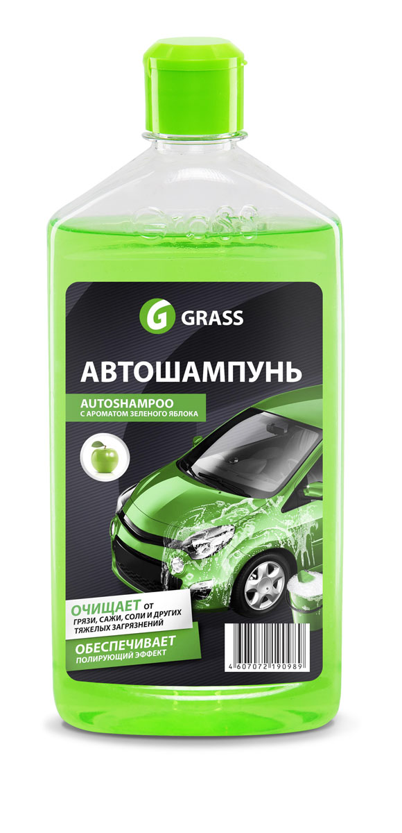 Автошампунь Grass Universal, с ароматом яблока, 500 млRC-100BWCАвтошампунь Grass Universal эффективно очищает въевшуюся грязь, сажу, масляные пятна, соль и другие эксплуатационные загрязнения. Обеспечивает полирующий эффект. Не оказывает раздражающего воздействия на кожу рук. Разводится водой из расчета 20-30 г на 10 л воды. Товар сертифицирован.