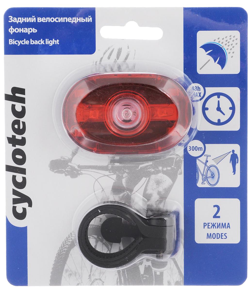 Фонарь велосипедный светодиодный Cyclotech, задний