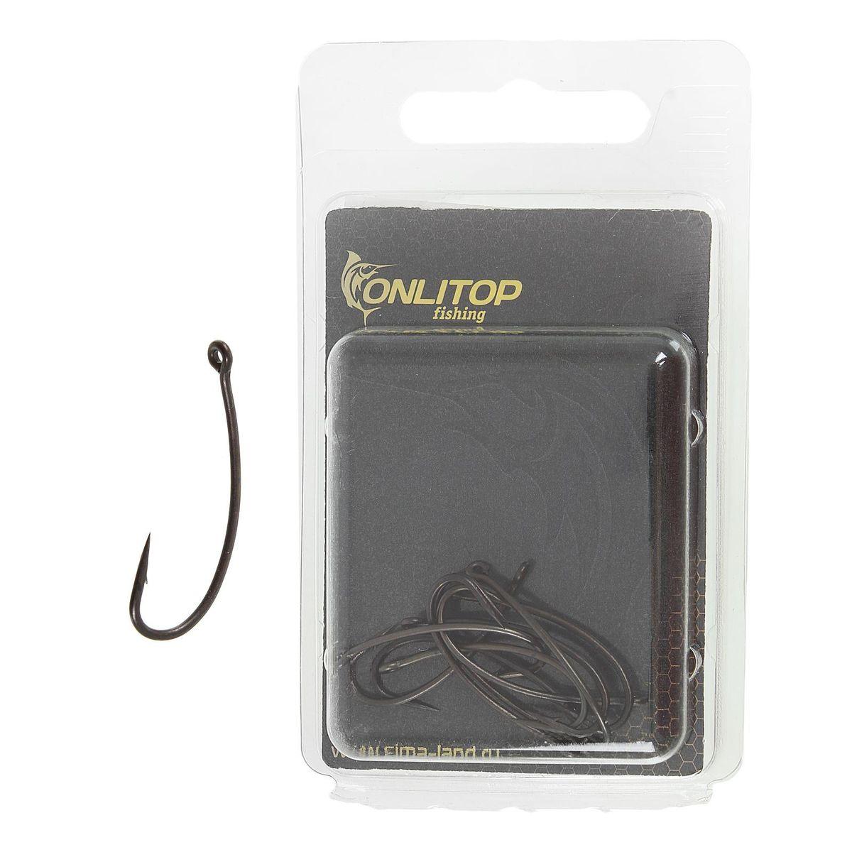 Крючок рыболовный Onlitop Turn Down Teflon, размер 4, 10 штC1101NSB-008Крючок TURN DOWN Teflon– незаменимый элемент в любительском рыболовстве и присутствует практически во всех снастях. Крючками оснащаются поплавочные и донные удочки, а также все искусственные приманки.