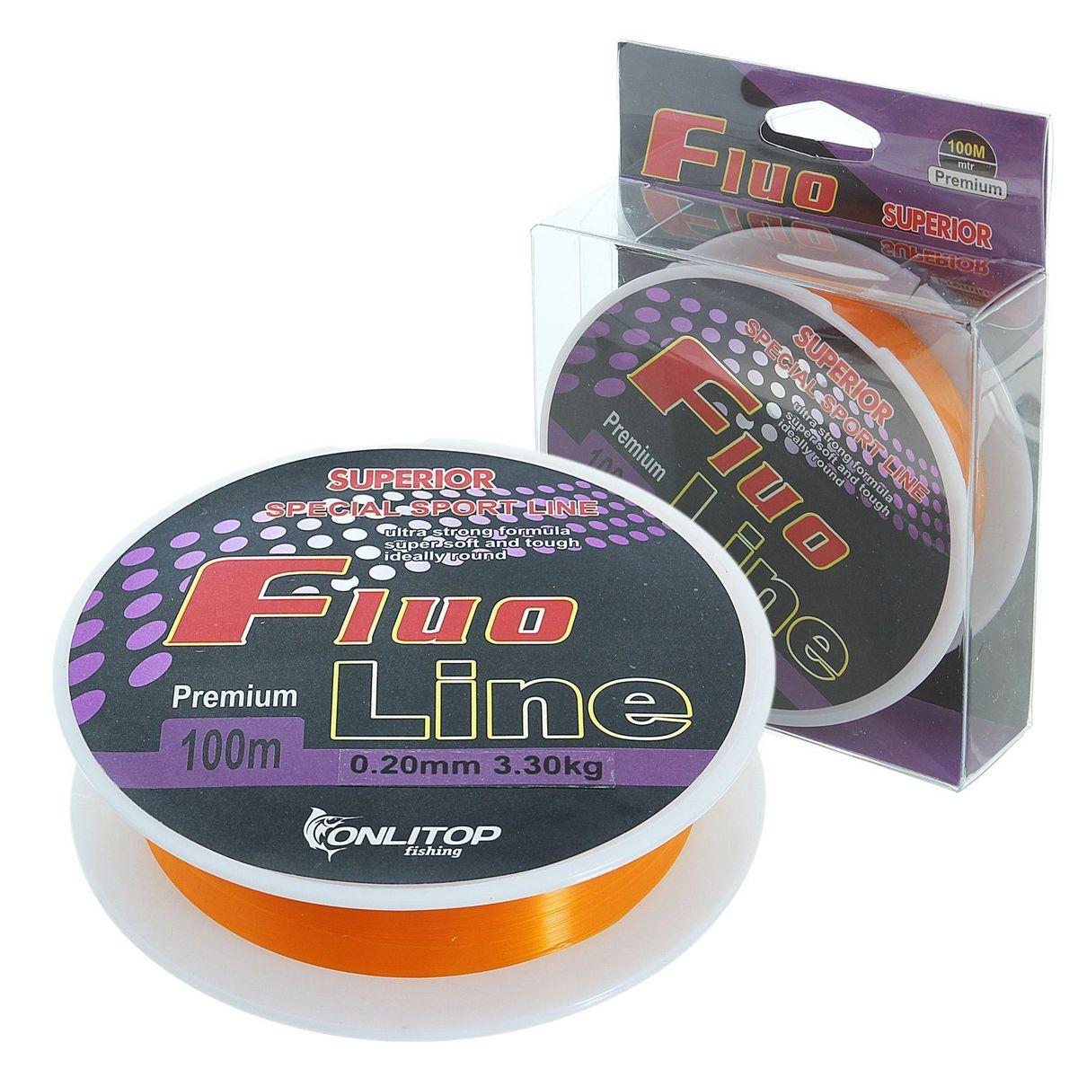 Леска Onlitop Fluo Line, цвет: оранжевый, 100 м, 0,2 мм, 3,3 кг010-01199-23Во время технологического процесса волокна сплетаются и специально разработанным способом сплавляются в единое целое. В ходе такой обработки леска становится прочнее, чем совокупность составляющих ее волокон. Таким образом получается оптимальный синтез монофильной и плетеной лески.