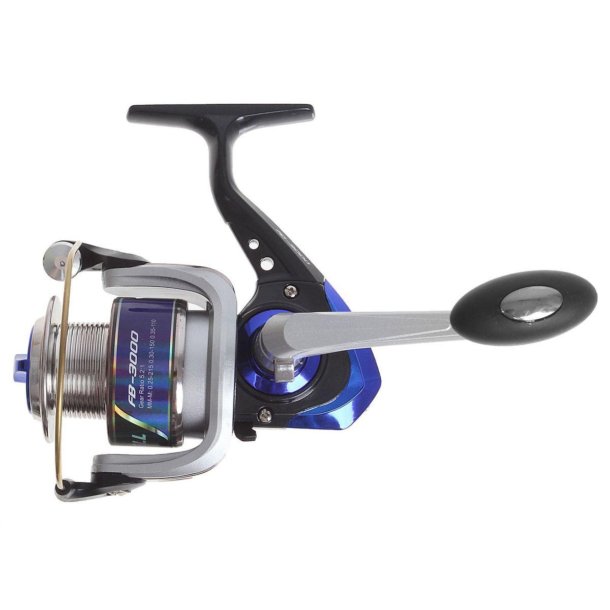 Катушка безынерционная Onlitop 1BB FB 3000, цвет: синий, 1 подшипник1305RКатушка 1BB FB 3000 это универсальная модель «эконом»-класса для разных условий рыбалки, отличный выбор для начинающих рыболовов.
