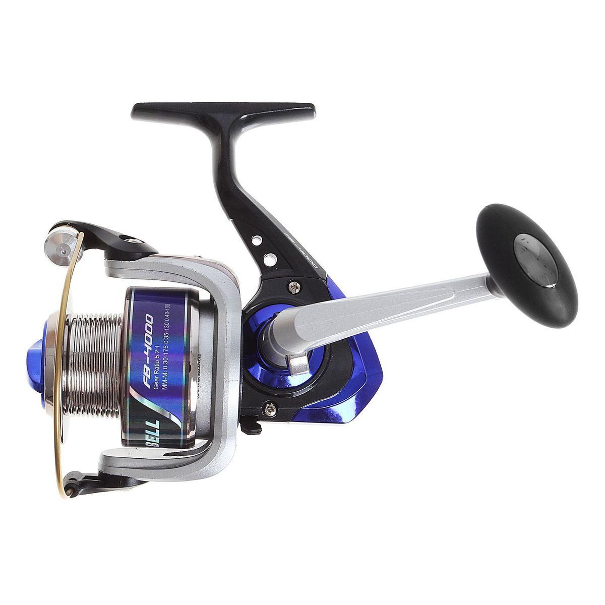 Катушка безынерционная Onlitop 1BB FB 4000, цвет: синий, 1 подшипник21800Катушка 1BB FB 4000 это универсальная модель «эконом»-класса для разных условий рыбалки, отличный выбор для начинающих рыболовов.