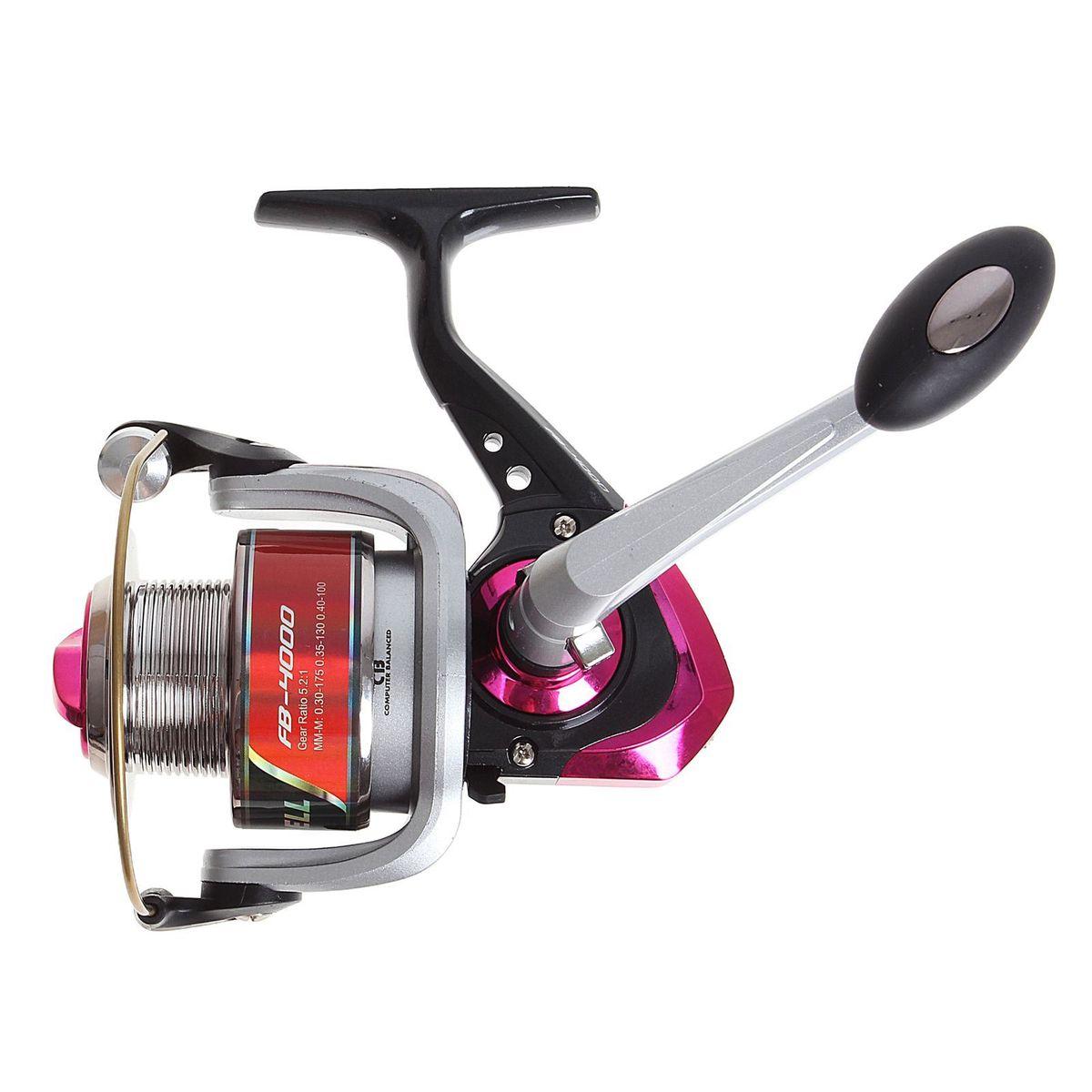 Катушка безынерционная Onlitop 1BB FB 4000, цвет: красный, 1 подшипникMABLSEH10001Катушка 1BB FB 4000 это универсальная модель «эконом»-класса для разных условий рыбалки, отличный выбор для начинающих рыболовов.