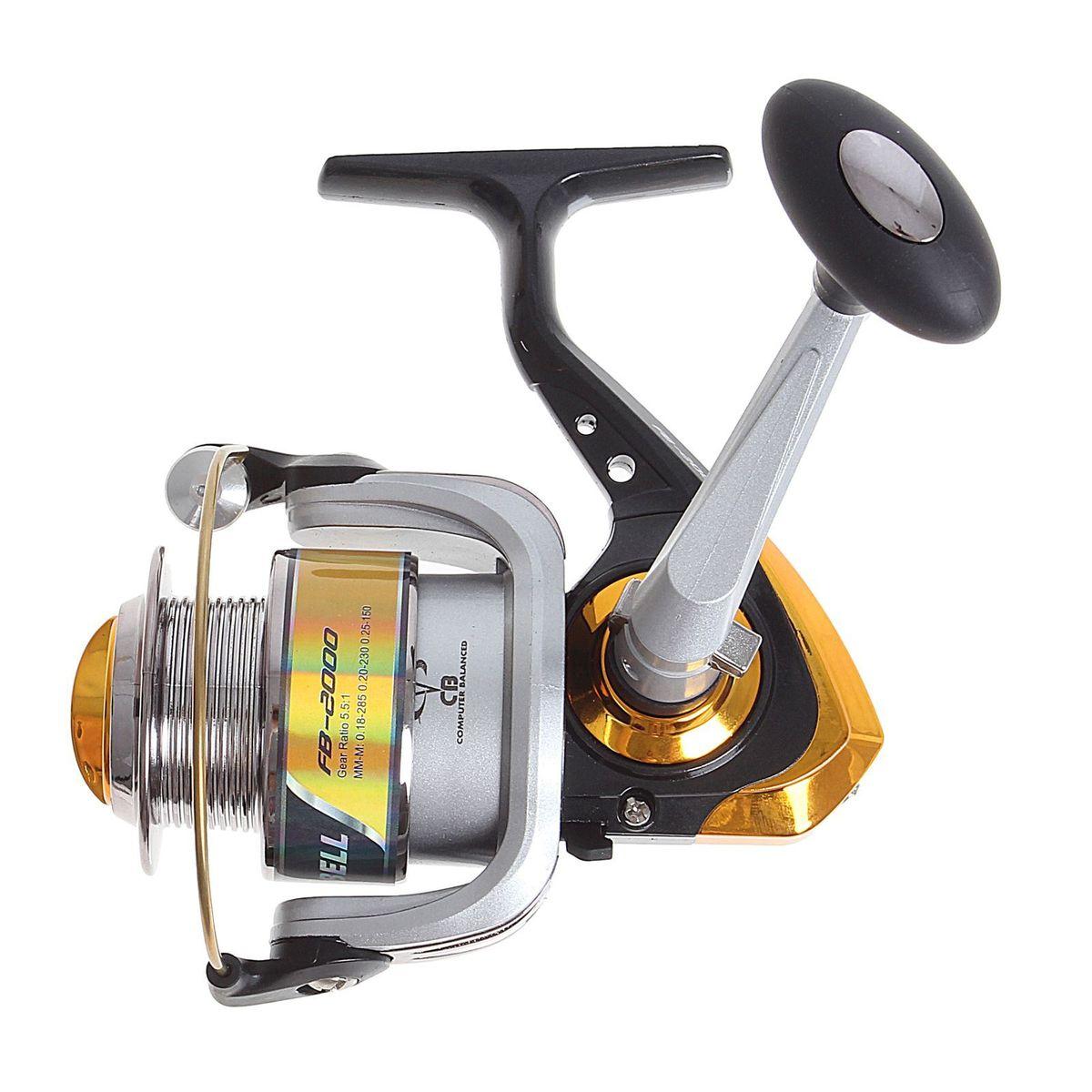 Катушка безынерционная Onlitop 1BB FB 2000, цвет: серый, черный, желтый, 1 подшипник1233159Облегченная безынерционная катушка Onlitop 1BB FB 2000, изготовленная из алюминия, снабжена пластиковой шпулей. Благодаря своему небольшому весу рекомендуется для использования на продолжительных рыбалках, при ловле в заброс и на поплавок. Катушка обеспечивает равномерную укладку любых видов лески, имеет систему оптимальной балансировки ротора. Имеется возможность переноса ручки под правую либо левую руку. Передаточное число: 5,5:1. Емкость шпули: 0,18/285 м, 0,20/230 м, 0,25/150 м.