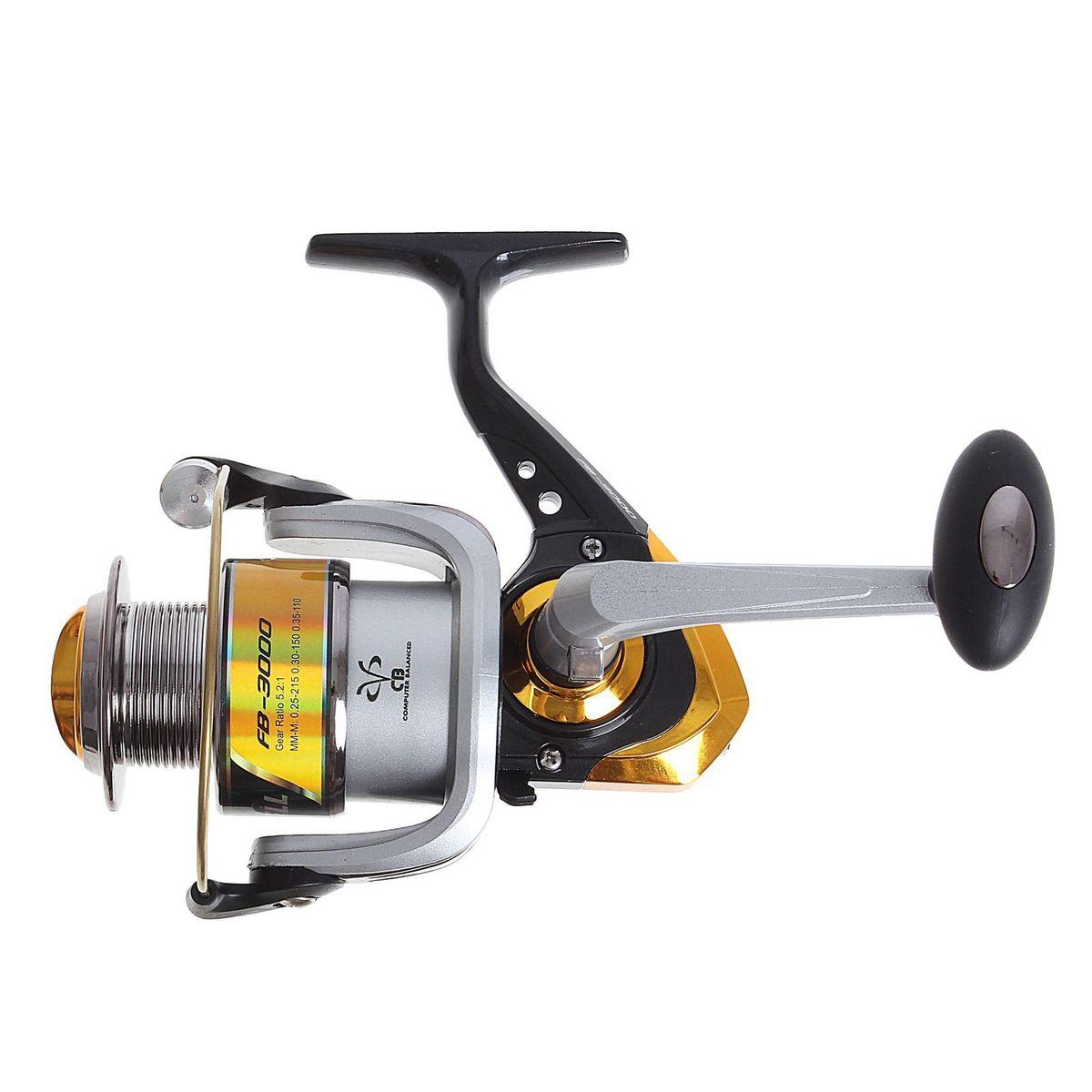 Катушка безынерционная Onlitop 1BB FB 3000, цвет: желтый, 1 подшипникFABLSEH10002Катушка 1BB FB 3000 это универсальная модель «эконом»-класса для разных условий рыбалки, отличный выбор для начинающих рыболовов.