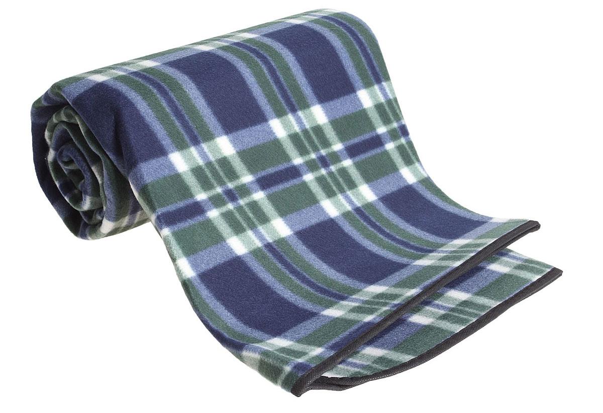 Коврик туристический  Onlitop , цвет: зеленый, синий, 130 х 150 х 0,3 см - Подушки, пледы, коврики