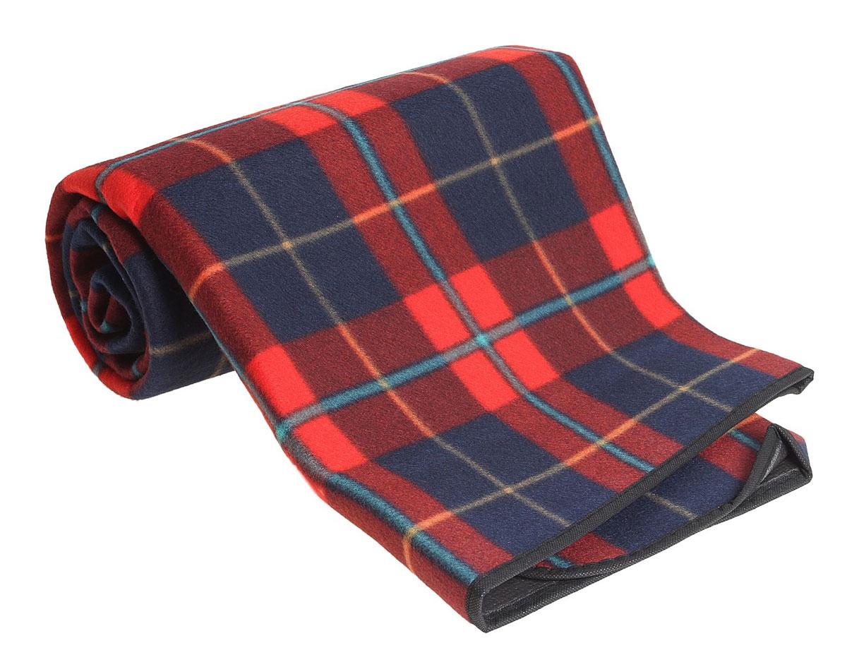 Коврик туристический  Onlitop , цвет: красный, синий, 130 х 150 х 0,3 см - Подушки, пледы, коврики