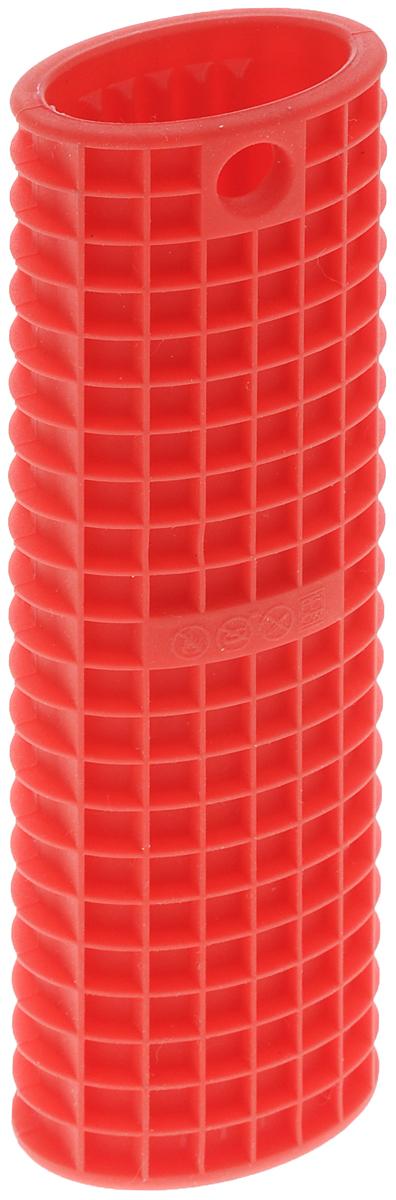Насадка на ручку сковороды Nadoba Dobrava, силиконовая, 15,5 х 5 х 3,5 см43_оранжевыйПрихватка на ручку сковороды Nadoba Dobrava изготовлена из силикона. Она защитит руки от ожогов, механических повреждений, воздействия высоких температур. Изделия из силикона выдерживают высокую температуру до + 240°С. Изделие легко моется, не горит и не тлеет, не впитывает запахи, не оставляет пятен. Силикон абсолютно безвреден для здоровья. Прихватка Nadoba Dobrava - отличный подарок, необходимый любой хозяйке. Можно мыть в посудомоечной машине.Размер: 15,5 х 5 см.Высота: 3,5 см.
