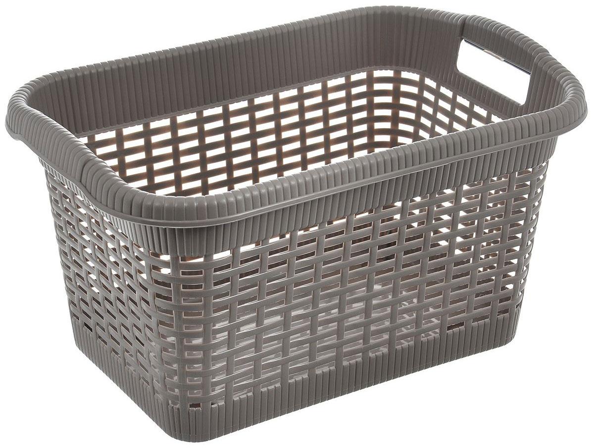 Корзина хозяйственная Gensini, цвет: коричневый, 43 см x 32 см x 25 см, 20 лjme-006Универсальная корзина Gensini, выполненная из пластика, предназначена для хранения мелочей в ванной, на кухне, даче или гараже. Позволяет хранить мелкие вещи, исключая возможность их потери.