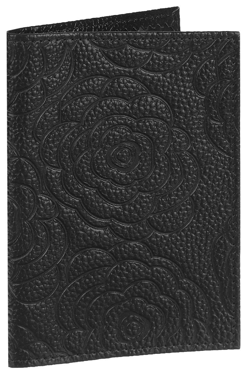 Обложка для паспорта Cheribags, цвет: черный. ОР-10TF 109-090Стильная обложка для паспорта Cheribags изготовлена из натуральной кожи с фактурным тиснением и оформлена цветочным тиснением. Обложка для паспорта поможет сохранить внешний вид ваших документов и защитить их от повреждений, а также станет стильным аксессуаром.