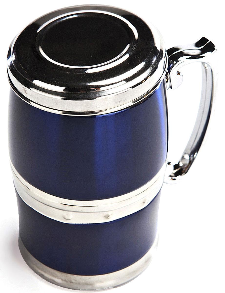Кружка магнитная Bradex Живая вода, цвет: синий, 350 мл10-01394-013Кружка Живая вода сочетает в себе сразу несколько функций. Благодаря двойной стенке, она выполняет роль небольшого термоса, поэтому налитая в эту кружку жидкость не будет остывать в течение длительного времени. Другая особенность кружки Живая вода заключается в том, что находящаяся в ней жидкость подвергается магнитной обработке. Обогащенная подобным способом жидкость оказывает благотворное воздействие на иммунную систему человека, снижает утомляемость и риск некоторых заболеваний, улучшает кровообращение и замедляет процесс старения.