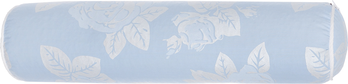 Подушка-валик Smart Textile, наполнитель: лузга гречихи, цвет: голубой, 40 х 10 см0003938Подушка-валик Smart Textile обеспечивает комфортный отдых, поддерживает шею и голову, уменьшая нагрузку на шейный отдел позвоночника, восстанавливает мышечный тонус. Чехол подушки выполнен из хлопка с цветочным узором, внутри - наполнитель из лузги гречихи. Благодаря такому наполнителю, подушка хорошо вентилируется, поддерживается комфортная температура, не заводятся вредные насекомые и бактерии. Лузга гречихи создает эффект микромассажа, улучшая кровоток, снимает отечность, повышает мышечный тонус. Подушка имеет необходимую жесткость и упругость. Это особенно важно для поддержания правильного положения позвоночного столба во время отдыха или сна. Валик можно подкладывать под голову, под колени, под поясницу, под стопы ног. Такой упругий валик способствует профилактике шейного остеохондроза, спондилоартроза, миозита, снимает мышечное напряжение при ушибах и растяжениях шейного отдела позвоночника, при болях в пояснице. Его можно использовать для дома, для дальних поездок, для занятий йогой.