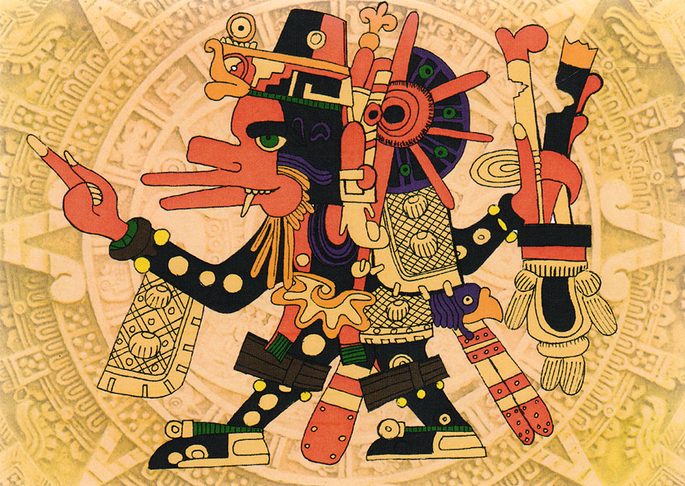 Ацтек. ОткрыткаБрелок для ключейДизайнерская открытка.На лицевой стороне находится изображение ацтека.Автор рисунка - Роман Рощин.Размер: 10.5 х 14.7 см.