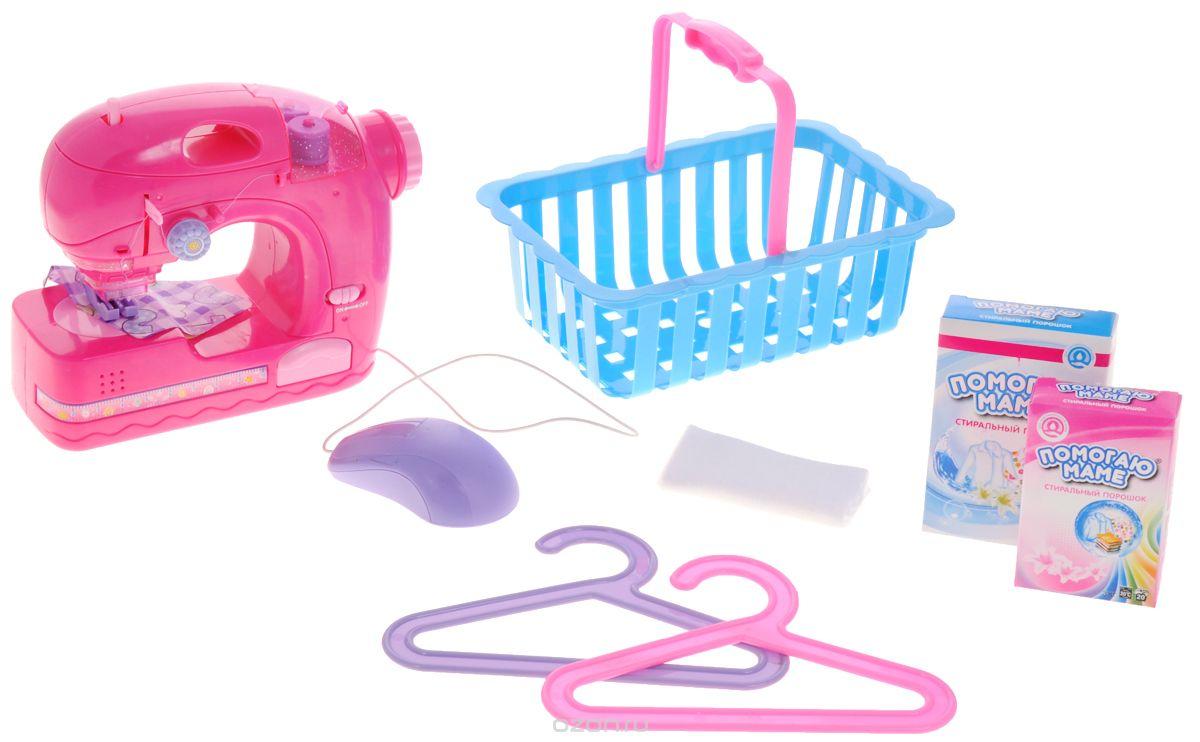 ABtoys Игровой набор Швейная машинка цвет розовый регелин купить в спб швейная фурнитура